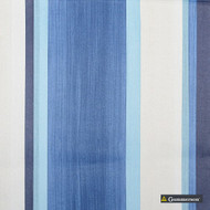 Gummerson - Palazzo Stripe Cornflower Softweave 137cm  | Curtain Sheer Fabric - Grey, Stripe, Wide-Width