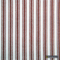 Gummerson - Ticking Stripe Red Uncoated 140cm  | Curtain & Upholstery fabric - Black, Charcoal, Uncoated, Plain, Texture, Fibre Blend, Standard Width