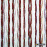 Gummerson - Ticking Stripe Red Uncoated 140cm  | Curtain & Upholstery fabric - Brown, Stripe, Uncoated, Fibre Blend, Standard Width