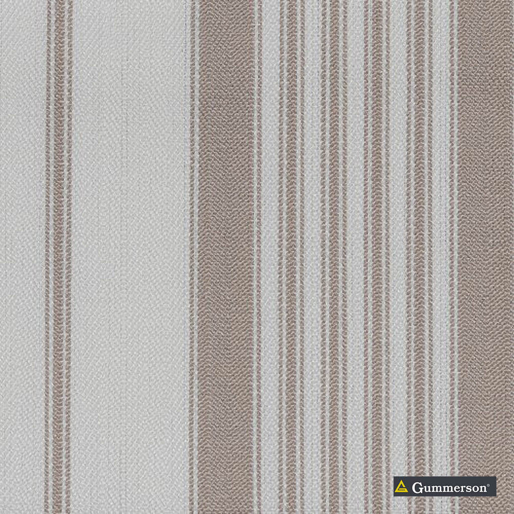 Gummerson - Multi Stripe Linen Uncoated 140cm  | Curtain & Upholstery fabric - Brown, Stripe, Uncoated, Fibre Blend, Standard Width