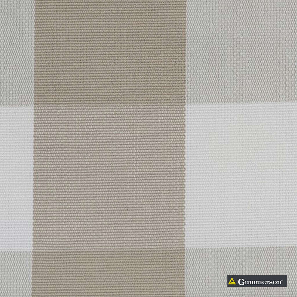 Gummerson - Beach Check Linen Uncoated 140cm  | Curtain & Upholstery fabric - Grey, Stripe, Uncoated, Gingham, Fibre Blend, Standard Width
