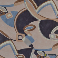 Gummerson - Picasso Natural Softweave 137cm  | Curtain Fabric - Beige, Blue, Brown, Abstract, Standard Width