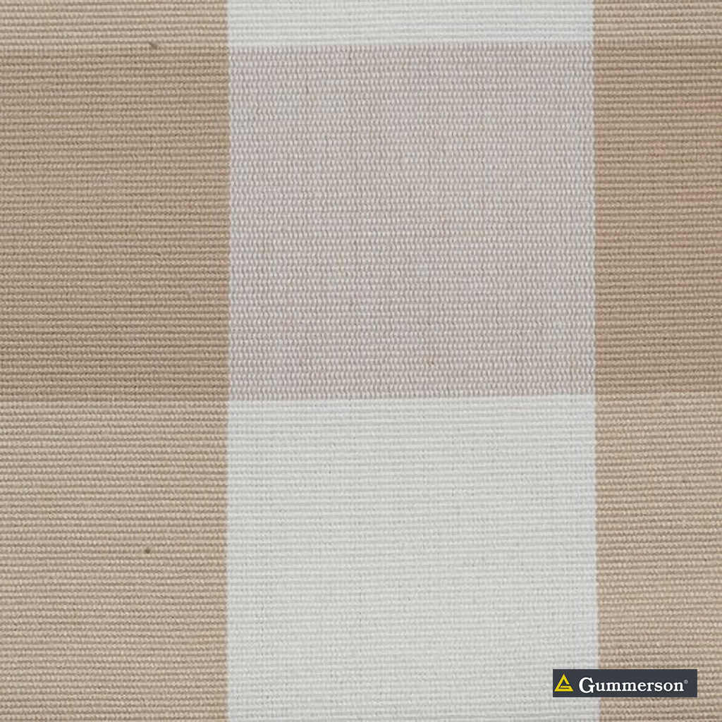 Gummerson - Beach Check Taupe Uncoated 140cm  | Curtain & Upholstery fabric - Beige, Stripe, Uncoated, Gingham, Fibre Blend, Standard Width