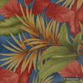 Gummerson - Tropic Multi Softweave 137cm  | Curtain Fabric - Green, Red, Tropical, Rust, Standard Width
