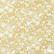 Scion Ester 120383    Curtain Fabric - Gold,  Yellow, Craftsman, Farmhouse, Floral, Garden, Natural Fibre, Commercial Use, Domestic Use, Natural, Standard Width