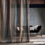 Anthology Stria - 131795  | Curtain Fabric - Brown, Ombre, Railroaded