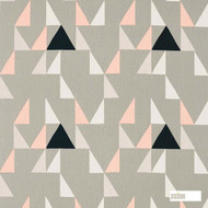 Scion Modul 120476    Curtain Fabric - Grey, Geometric, Abstract, Natural, Triangles, Natural Fibre, Standard Width