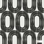 Scion Loop 110455  | Wallpaper, Wallcovering - Black - Charcoal, Geometric, Midcentury, Domestic Use, Circles
