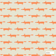 Scion Little Fox 111285  | Wallpaper, Wallcovering - Fire Retardant, Orange, Eclectic, Animals, Fauna, Figurative