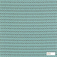 Scion Lace 120087  | Curtain & Upholstery fabric - Green, Turquoise, Teal, Geometric, Circlelink, Circles, Lattice, Trellis, Natural, Small Scale