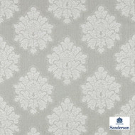 Sanderson Laurie - 236121  | Upholstery Fabric - Grey, Traditional, Cushion, Damask, Natural, Natural Fibre, Standard Width