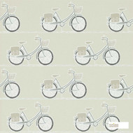 Scion Cykel 111103  | Wallpaper, Wallcovering - Kids, Children, Midcentury, Domestic Use, Figurative, Print, Circles