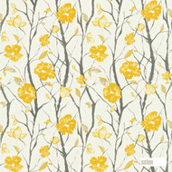 Scion Celandine 120055  | Curtain Fabric - Gold, Yellow, Floral, Garden, Botantical, Farmhouse, Natural, Natural Fibre, Standard Width