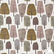Scion Cedar 120357    Curtain Fabric - Brown, Floral, Garden, Midcentury, Natural Fibre, Commercial Use, Domestic Use, Natural, Standard Width, Woodland