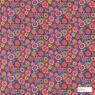 Scion Bloomin Lovely 120447  | Curtain & Upholstery fabric - Eclectic, Floral, Garden, Kids, Children, Midcentury, Natural Fibre, Pink, Purple, Domestic Use, Natural