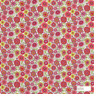 Scion Bloomin Lovely 120448  | Curtain & Upholstery fabric - Red, Floral, Garden, Kids, Children, Midcentury, Natural Fibre, Pink, Purple, Domestic Use, Natural