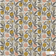 Scion Blomma 120359  | Curtain Fabric - Orange, Floral, Garden, Botantical, Kitchen, Natural, Natural Fibre, Standard Width
