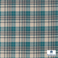 Sanderson Bryndle Check - 236735  | Upholstery Fabric - Blue, Cushion, Natural, Plaid, Natural Fibre, Standard Width