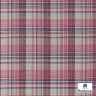 Sanderson Bryndle Check - 236736  | Upholstery Fabric - Burgundy, Red, Cushion, Natural, Plaid, Natural Fibre, Standard Width