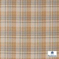 Sanderson Bryndle Check - 236737  | Upholstery Fabric - Beige, Cushion, Natural, Plaid, Natural Fibre, Standard Width