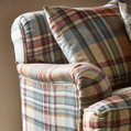 The attractive designer Bryndle Check upholstery fabrics from Sanderson