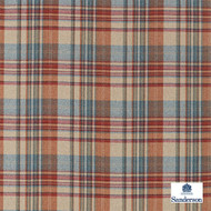 Sanderson Bryndle Check - 236738  | Upholstery Fabric - Brown, Cushion, Natural, Plaid, Natural Fibre, Standard Width