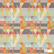 Scion Axis 131141  | Curtain Fabric - Orange, Eclectic, Geometric, Abstract, Triangles, Standard Width