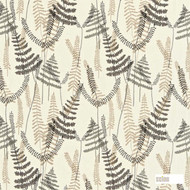 Scion Athyrium 130353  | Curtain Fabric - Grey, Fibre Blends, Floral, Garden, Midcentury, Commercial Use, Domestic Use, Standard Width