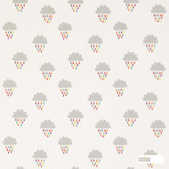Scion April Showers 131659  | Curtain Fabric - Grey, Kids, Children, Midcentury, Natural Fibre, Domestic Use, Figurative, Natural, Print, Standard Width