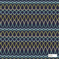 Scion Ada 131198  | Curtain Fabric - Blue, Eclectic, Geometric, Abstract, Fibre Blend, Standard Width