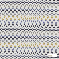 Scion Ada 131199  | Curtain Fabric - Blue, Gold, Yellow, Eclectic, Geometric, Abstract, Fibre Blend, Standard Width