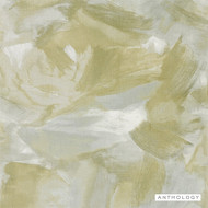 Anthology Aspronisi - 111603  | Wallpaper, Wallcovering - Green, Brush Stroke