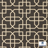 Sanderson Hampton Trellis - 216662  | Wallpaper, Wallcovering - Brown, Mediterranean, Geometric, Lattice, Trellis