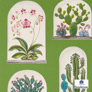Sanderson Terrariums - 216656  | Wallpaper, Wallcovering - Green, Floral, Garden, Botantical