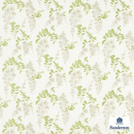 Sanderson Wisteria Blossom 223581  | Upholstery Fabric - Farmhouse, Floral, Garden, Natural Fibre, Commercial Use, Domestic Use, Natural, Standard Width