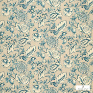 Zoffany Winterbourne 322343  | Cushion Fabric - Blue, Floral, Garden, Botantical, Traditional, Jacobean, Fibre Blend, Standard Width