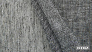Nettex Cannes LX100 - Charcoal 320  | Curtain Sheer Fabric - Fire Retardant, Linen/Linen Look, Black, Charcoal, Wide-Width, Plain