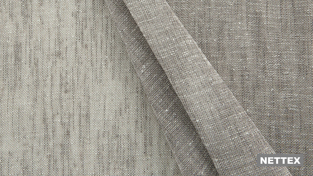 Nettex Cannes LX100 - Fawn 320  | Curtain Sheer Fabric - Fire Retardant, Linen/Linen Look, Beige, Wide-Width, Plain