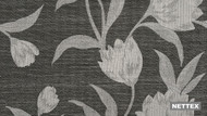 Nettex Toscania MG52 - Onyx 137  | Curtain Fabric - Black, Charcoal, Floral, Garden, Botantical, Standard Width