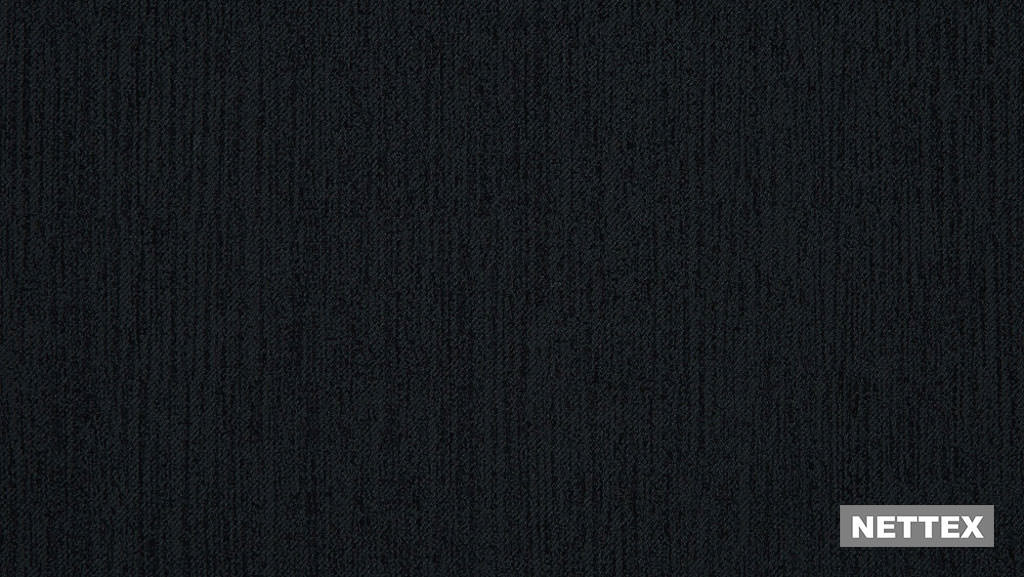 Nettex York LD8 - Graphite 150  | Curtain Fabric - Fire Retardant, Black, Charcoal, Plain, Standard Width
