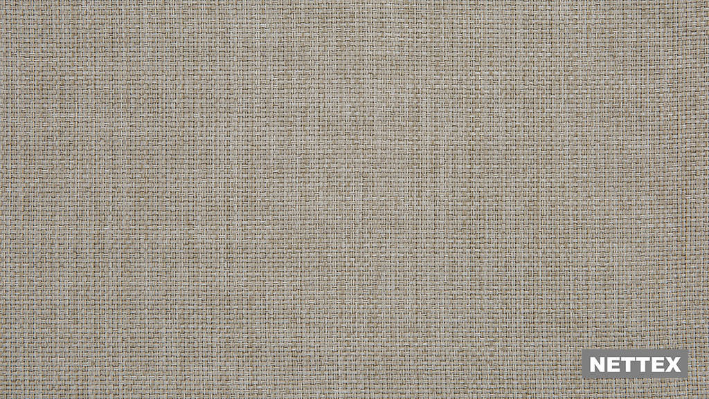 Nettex Tulsa AN101 - Latte 300  | Curtain Fabric - Fire Retardant, Linen/Linen Look, Beige, Wide-Width, Plain, Strie, Strie