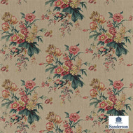 Sanderson Tournier 222070  | Upholstery Fabric - Pink, Purple, Tan, Taupe, Floral, Garden, Botantical, Shabby Chic, Farmhouse, Natural, Natural Fibre