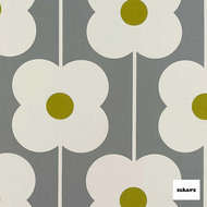 Sekers Abacus Flower 140cm - Olive    Curtain Fabric - Green, Contemporary, Floral, Garden, Botantical, Uncoated, Natural, Natural Fibre