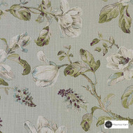 Maurice Kain Abbey 137cm - Celadon  | Curtain Fabric - Green, Floral, Garden, Botantical, Traditional, Uncoated, Shabby Chic, Natural, Natural Fibre