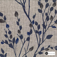 Maurice Kain Astoria 139cm - Pacific  | Curtain Fabric - Blue, Floral, Garden, Botantical, Uncoated, Pattern, Standard Width