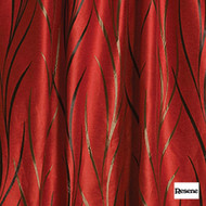 Resene Beyond 141cm - Flame    Curtain Fabric - Red, Contemporary, Uncoated, Pattern, Fibre Blend, Standard Width