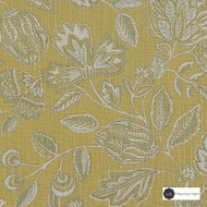 Maurice Kain Clova 137cm - Dandelion  | Curtain Fabric - Gold, Yellow, Contemporary, Floral, Garden, Botantical, Uncoated, Natural, Natural Fibre