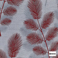 Resene Denizen 138cm - Flame  | Curtain Fabric - Red, Contemporary, Floral, Garden, Botantical, Uncoated, Pattern, Palmette, Standard Width