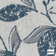 Resene Evolve 140cm - Hydra  | Curtain Fabric - Black, Charcoal, Contemporary, Floral, Garden, Botantical, Uncoated, Pattern, Fibre Blend