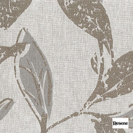 Resene Evolve 140cm - Stone  | Curtain Fabric - Brown, Contemporary, Floral, Garden, Botantical, Uncoated, Pattern, Fibre Blend, Standard Width
